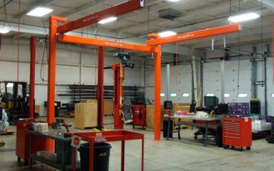 Kundel SnapTrac Overhead Workstation Bridge Cranes