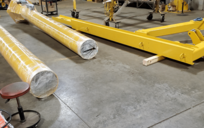 Patent Pending | Jib Crane Utilizes Pined Compression Tubes