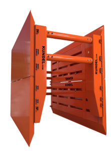 Titan Plus 6 Stacked with Big Clear - Shoring - Trench Shoring - Shoring Box - Shoring Wall - Kundel Trench Shield - Trench Shield - Shield