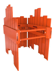 Vanguard (Timber) 3 sided with Spreader - Shoring - Trench Shoring - Shoring Box - Shoring Wall - Kundel Trench Shield - Trench Shield - Shield