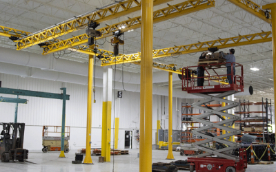 Using Overhead Cranes to Maintain a Rental Fleet